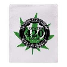 Growers Local 420 Throw Blanket