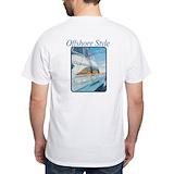 Marlin fishing Mens Classic White T-Shirts