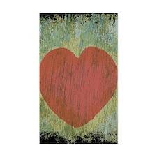Love heart grunge  Decal