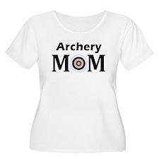 Archery Mom Women'S Plus Size Scoop Neck T-Shirt