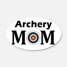 Archery Mom Oval Oval Car Magnet
