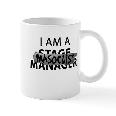 I am A Stage Manager Masochist Black Tape Mugs