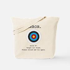Error - Target Not Found Tote Bag
