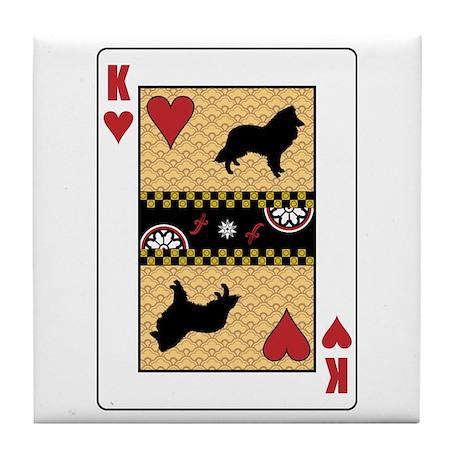 King Sheltie Tile Coaster