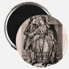 Old Flirting Married Couple Print Magnets