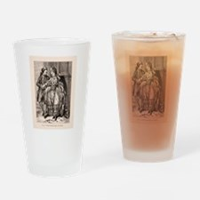Old Flirting Married Couple Print Drinking Glass