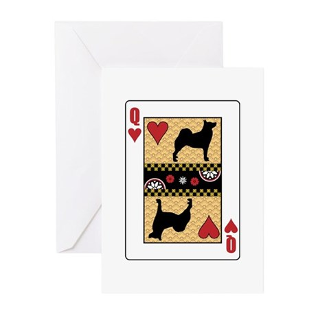 Queen Buhund Greeting Cards (Pk of 10)