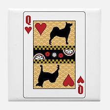 Queen Buhund Tile Coaster