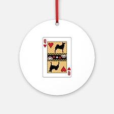 Queen Buhund Ornament (Round)