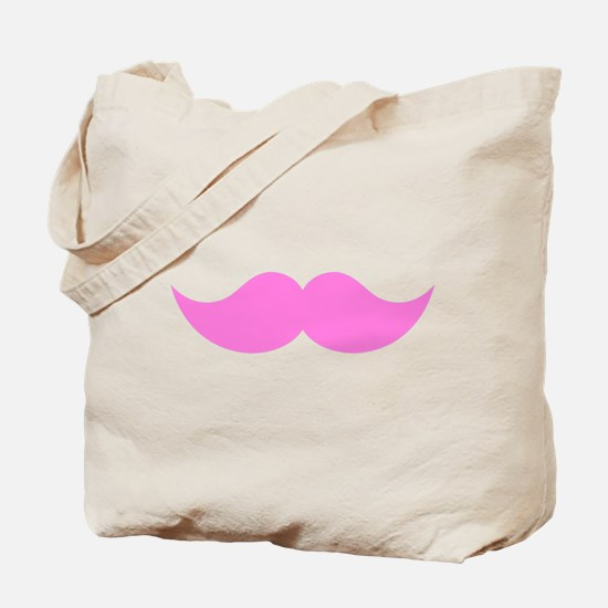 Pink Mustache Moustache Tote Bag