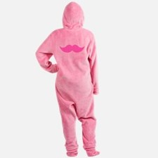 Pink Mustache Moustache Footed Pajamas