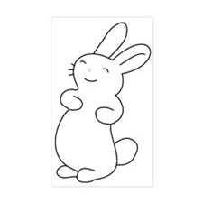 Cute Smiling Bunny  Decal