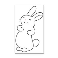 Cute Smiling Bunny  Rectangle Car Magnet
