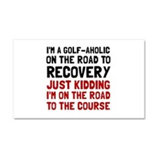 Golfaholic Car Magnet 20 x 12
