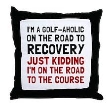 Golfaholic Throw Pillow