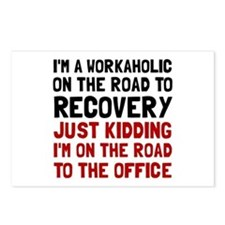 Workaholic Postcards (Package of 8)