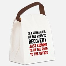 Workaholic Canvas Lunch Bag
