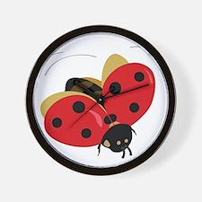 Red Ladybug-3 Wall Clock