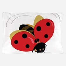 Red Ladybug-3 Pillow Case