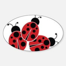 Trio of Ladybugs Decal