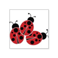 Trio of Ladybugs Sticker