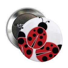 """Trio of Ladybugs 2.25"""" Button (10 pack)"""