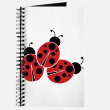 Trio of Ladybugs Journal