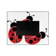 Trio of Ladybugs Picture Frame