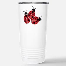 Trio of Ladybugs Travel Mug
