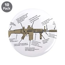 """freedom gun 3.5"""" Button (10 pack)"""