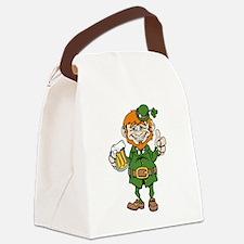 St Patricks Day leprechaun Canvas Lunch Bag