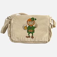 St Patricks Day leprechaun Messenger Bag