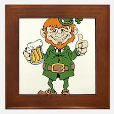 St Patricks Day leprechaun Framed Tile