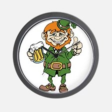 St Patricks Day leprechaun Wall Clock