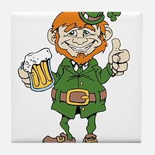 St Patricks Day leprechaun Tile Coaster