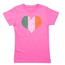 Flag of Ireland Heart Girl's Tee