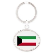 Flag of Kuwait Oval Keychain
