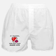 My Girlfriend - Steak and BJ Day Boxer Shorts