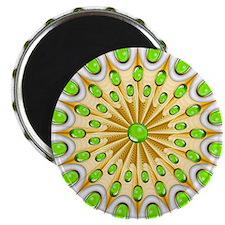 Mandala Gold and Emeralds Magnets