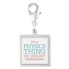Physics Thing Silver Square Charm
