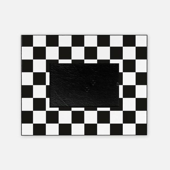 Big Black/White Checkerboard Checker Picture Frame