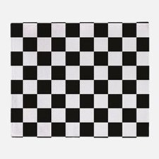 Big Black/White Checkerboard Checker Throw Blanket