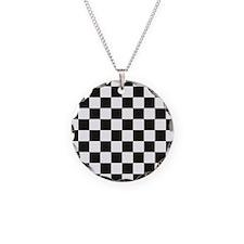 Big Black/White Checkerboard Necklace