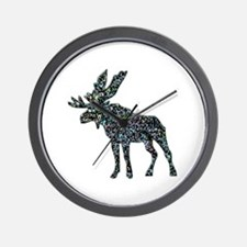 Moose Elk Wall Clock