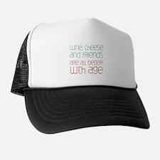 Wine Cheese Friends Trucker Hat