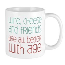 Wine Cheese Friends Mug