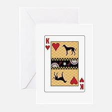 King Saluki Greeting Cards (Pk of 10)