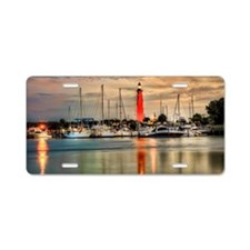 Ponce Inlet Lighthouse in F Aluminum License Plate