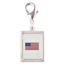 Flag of the United States Silver Portrait Charm