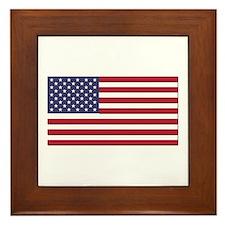 Flag of the United States Framed Tile